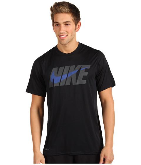 Tricouri Nike - Legend NSwoosh S/S Tee - Black/Dark Grey Heather/Game Royal