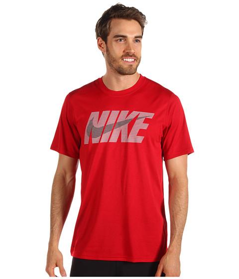 Tricouri Nike - Legend NSwoosh S/S Tee - Gym Red/Dark Grey Heather/White