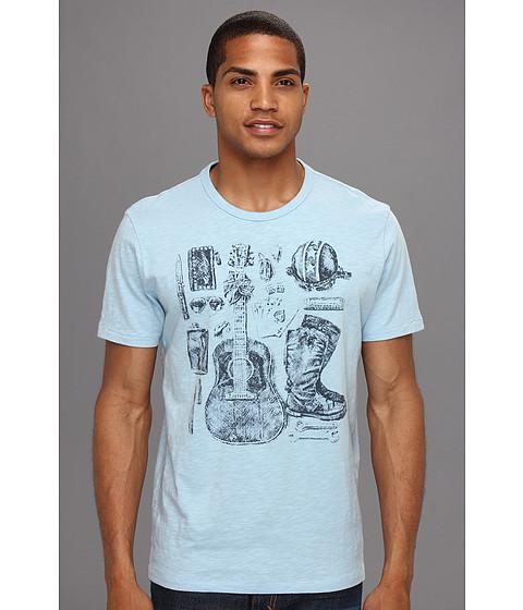 Tricouri Lucky Brand - Biker Assemvlege T-Shirt - Spring Blue