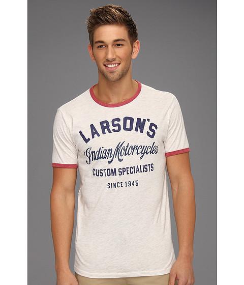 Tricouri Lucky Brand - Larson\s Indian Ringer - Stone White