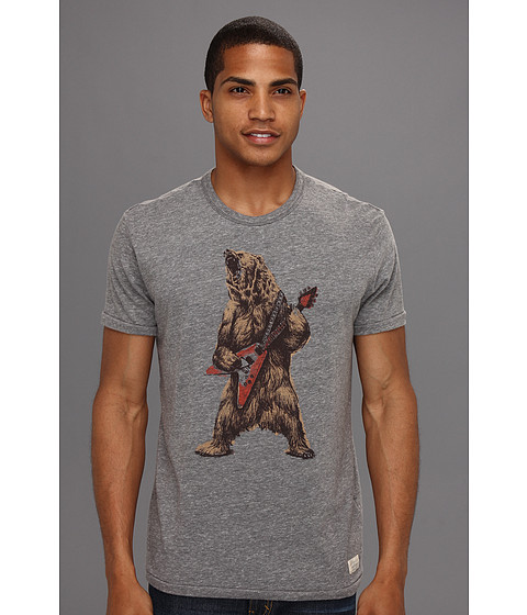 Tricouri Lucky Brand - Rockin Bear - Heather Grey Tri Blend