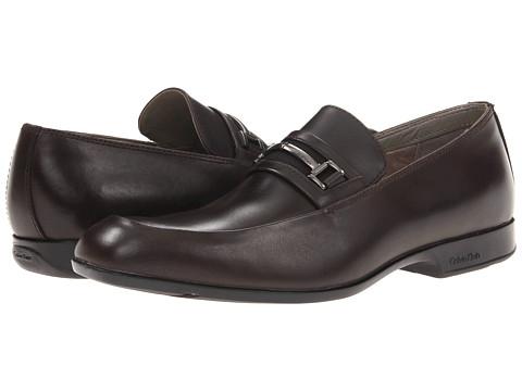 Pantofi Calvin Klein - Adrien - Dark Brown Leather