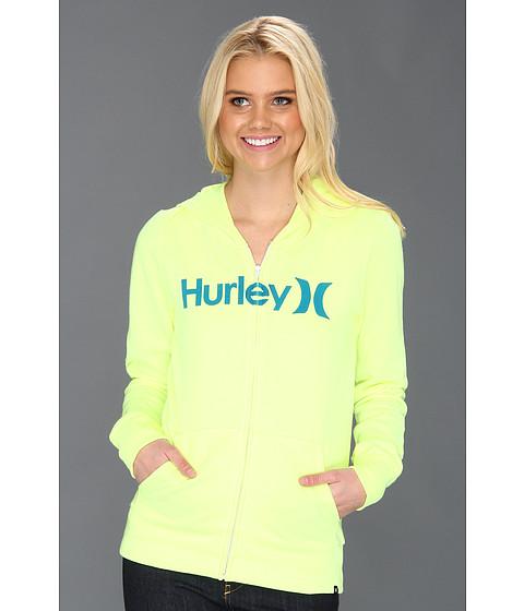 Bluze Hurley - One & Only Slim Fleece Zip Hoodie (Juniors) - Hot Yellow