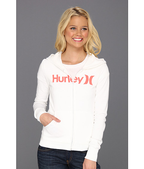 Bluze Hurley - One & Only Slim Fleece Zip Hoodie (Juniors) - White 2