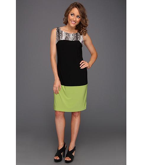 Rochii Christin Michaels - Jannet Dress - Black/Lime