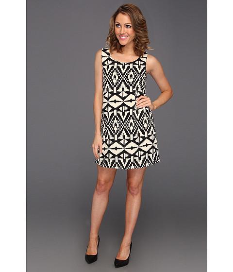 Rochii Gabriella Rocha - Azura Diamond Print Dress - Black/Ivory