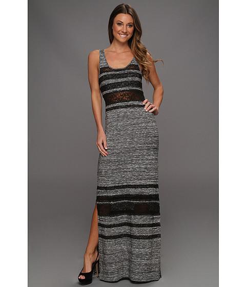 Rochii Free People - Hazy Days Lace Stripe Maxi Dress - Slate