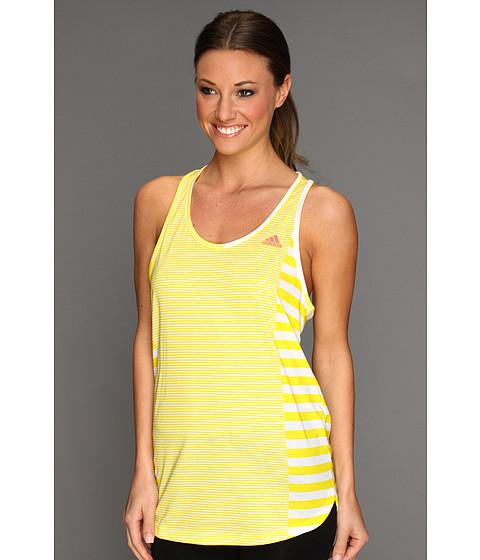 Tricouri adidas - Boyfriend Stripe Tank - White/Vivid yellow/Red Zest