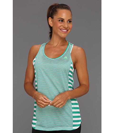 Tricouri adidas - Boyfriend Stripe Tank - White/Blaze Green/Sub Green