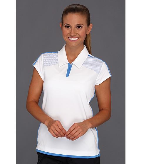 Tricouri adidas - ClimaCoolî 3-Stripes Polo \13 - White/Oasis