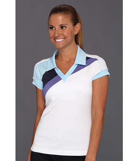 Tricouri adidas - ClimaCoolî Archistripe Polo \13 - White/Storm/Nautical/Waterfall