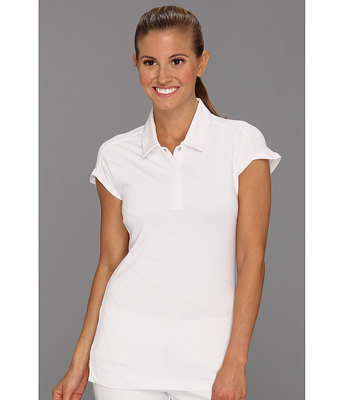 Tricouri adidas - ClimaLiteî Clear Print Polo \13 - White/Chrome