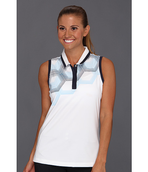 Bluze adidas - ClimaCoolî Sleeveless Hex Fade Polo \13 - Waterfall/Nautical/White