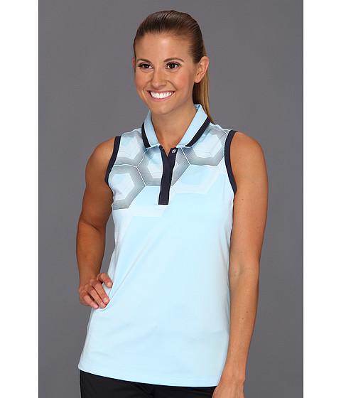 Bluze adidas - ClimaCoolî Sleeveless Hex Fade Polo \13 - White/Storm/Waterfall