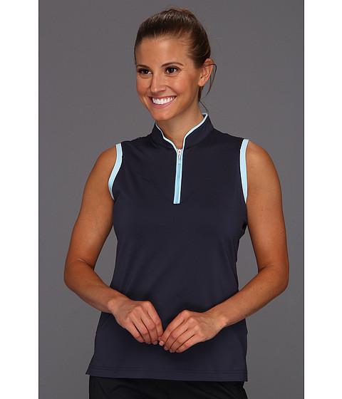 Bluze adidas - ClimaLiteî Sleeveless Piped Polo \13 - Navy/Waterfall