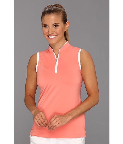 Bluze adidas - ClimaLiteî Sleeveless Piped Polo \13 - Watermelon/White