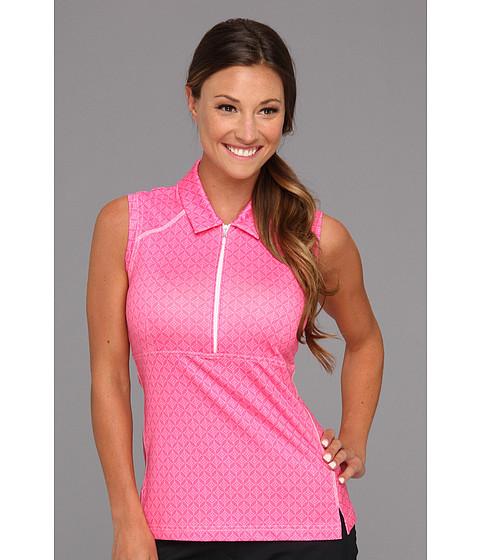 Bluze adidas - ClimaLiteî Sleeveless Print Zip Polo \13 - Bubblegum/White