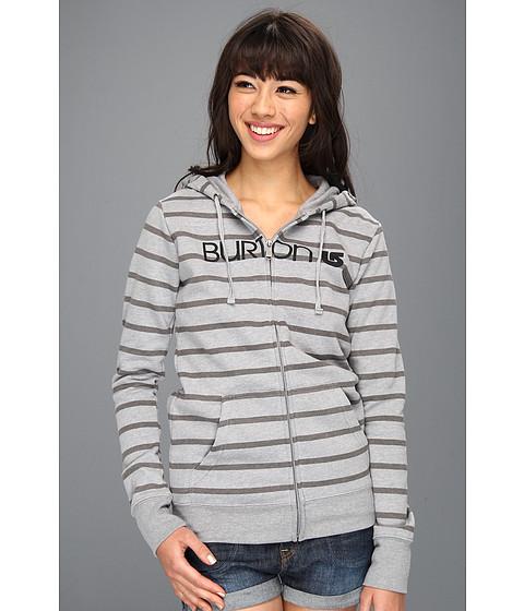 Bluze Burton - Her Logo Basic Full-Zip Hoodie - Heather Pewter Stripe
