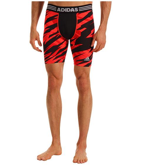 Pantaloni adidas - techfitâ⢠CC Compression Short Tight - Camo - Light Scarlet/Infrared/University Red