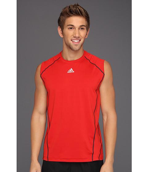 Tricouri adidas - techfitâ⢠Fitted Sleeveless Top - Light Scarlet/Tech Grey