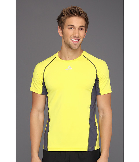 Tricouri adidas - techfitâ⢠Fitted Short-Sleeve Top - Vivid Yellow/Tech Grey