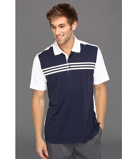 Tricouri adidas - ClimaCool® 3-Stripes Colorblock Polo \13 - Navy/White