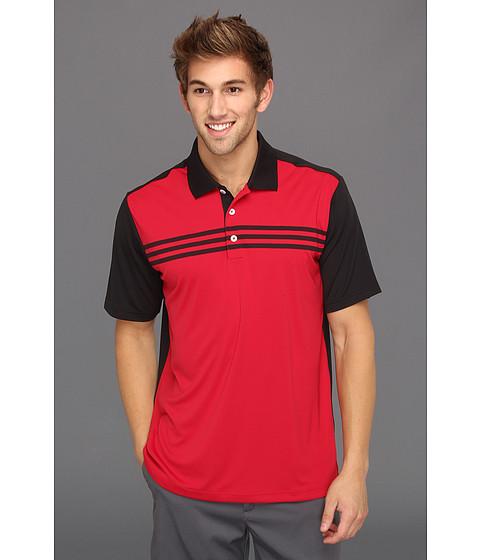 Tricouri adidas - ClimaCoolî 3-Stripes Colorblock Polo \13 - Ruby/Black