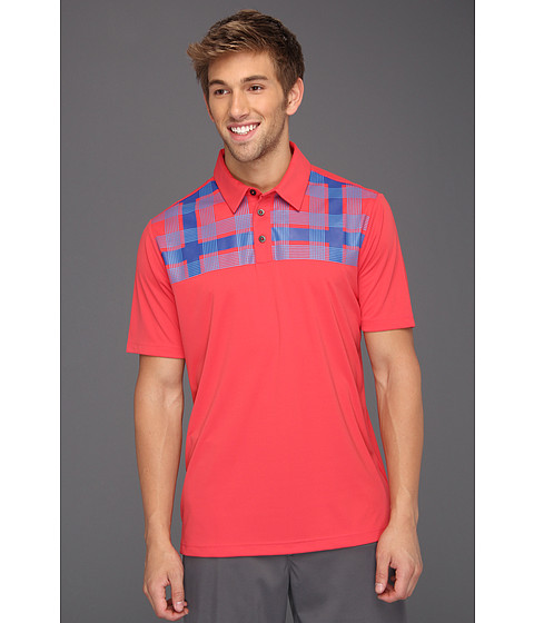 Tricouri adidas - ClimaCoolî Chest Plaid Polo \13 - Punch/Blueberry/Oasis