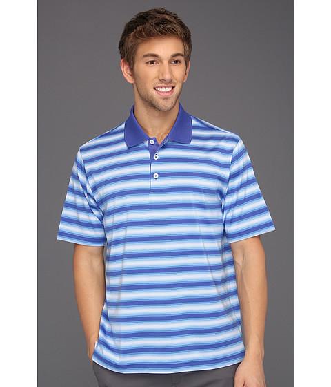 Tricouri adidas - ClimaCoolî Soft Stripe Polo \13 - Blueberry/Oasis/White