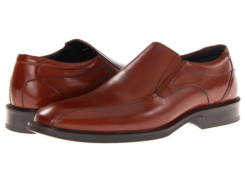 Pantofi Johnston & Murphy - Alderson Runoff Venetian - Tan Italian Calfskin