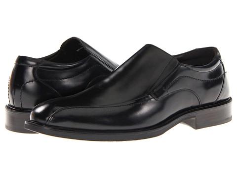 Pantofi Johnston & Murphy - Alderson Runoff Venetian - Black Italian Calfskin