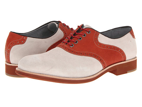 Pantofi Johnston & Murphy - Ellington Saddle - White Suede/Red Nubuck