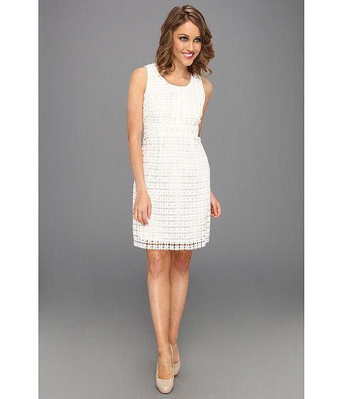 Rochii Laundry by Shelli Segal - Mixed Lace Dress - White