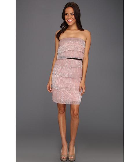 Rochii Jessica Simpson - Strapless Ruffle Tier Dress - Rose