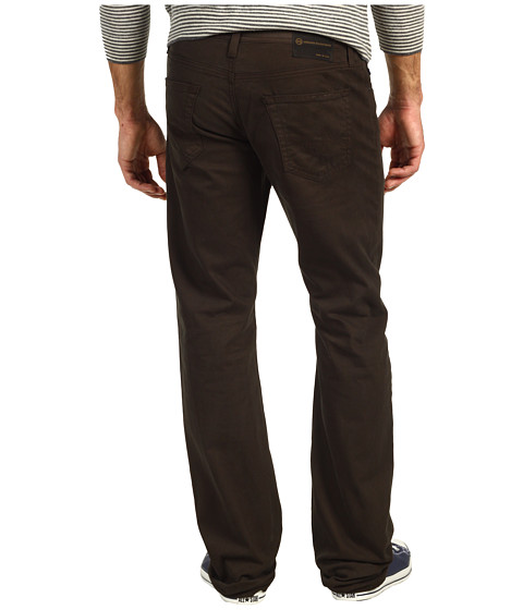 Pantaloni AG Adriano Goldschmied - Protege Straight Leg Sueded Stretch Sateen - Coffee