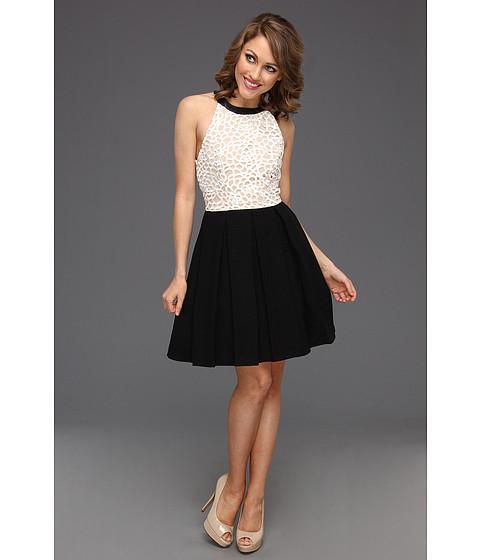 Rochii ABS Allen Schwartz - Fabric Blocked A-Line Flared Dress - Black