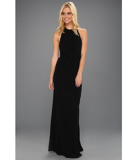 Rochii ABS Allen Schwartz - Tank Gown With Vertical Frt Gathered Tucks - Black
