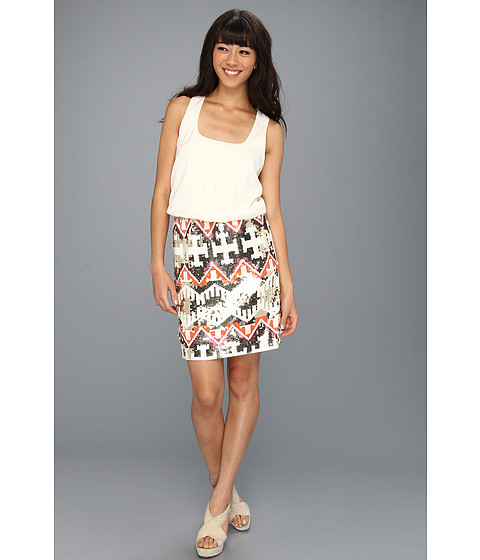 Rochii Jessica Simpson - Racerback Tank Dress w/ Embellished Skirt - Cream