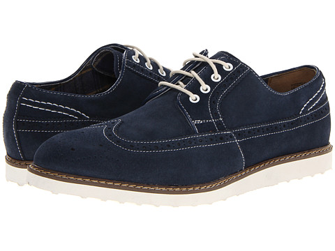 Pantofi Hush Puppies - Full Wing Wedge - Navy Suede