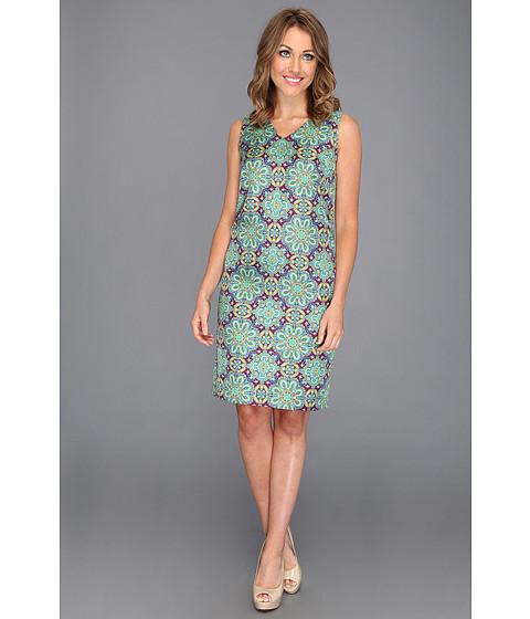 Rochii Jones New York - V-Neck Embellished Tank Dress - Purple Dawn Combo