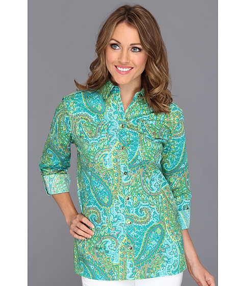 Tricouri Jones New York - Roll Sleeve Safari Style Shirt - Waterfall Combo