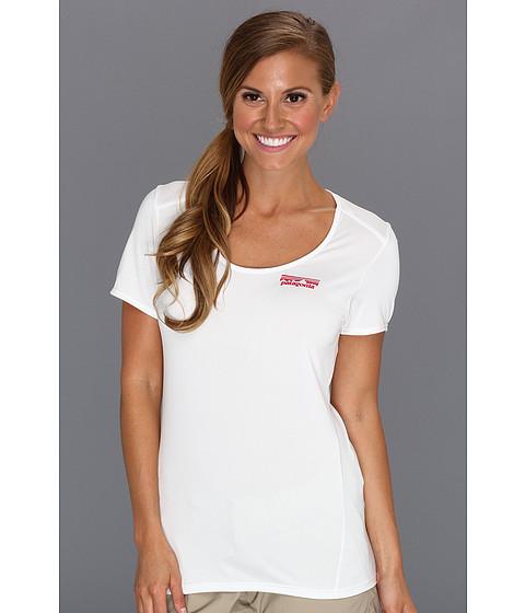 Tricouri Patagonia - Capileneî 1 Silkweight Graphic T-Shirt - Fitz Solid/White