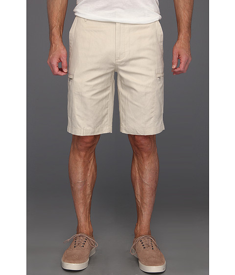Pantaloni Calvin Klein - Linen/Cotton Cargo Short - Light Stone