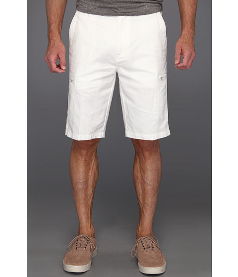 Pantaloni Calvin Klein - Linen/Cotton Cargo Short - Snow White
