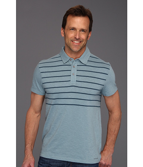Tricouri Calvin Klein - Boating Stripe S/S Polo - Moon