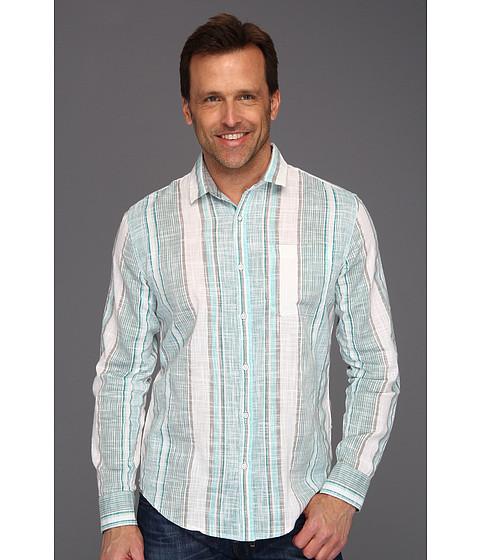 Tricouri Calvin Klein - Environ Stripe L/S Shirt - Blue Radiance