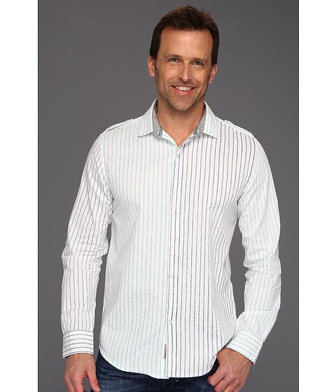 Tricouri Calvin Klein - Seismic Stripe L/S Shirt - White