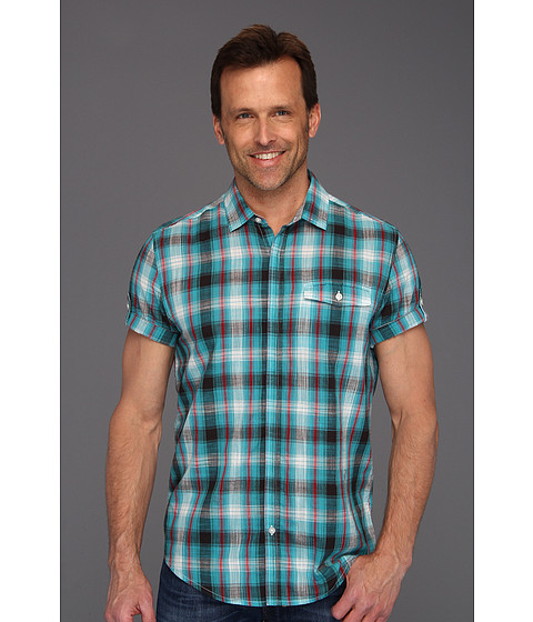 Tricouri Calvin Klein - Terrene Plaid S/S Shirt - Bright Teal