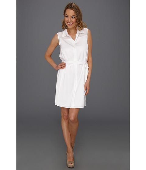 Rochii DKNY - Sleeveless Button Thru Dress - Classic White