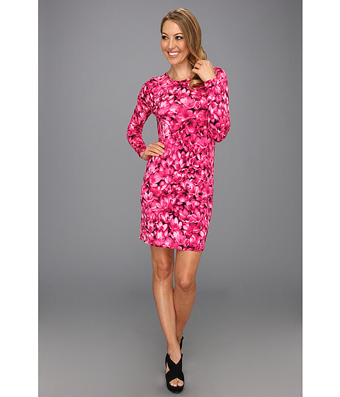Rochii Michael Kors - Wildflower MJ Longsleeve Dress - Radiant Pink